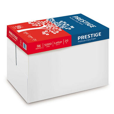 Prestige Multi-Use Copy Paper, 20lb., 96 Bright, 10 Ream Carton