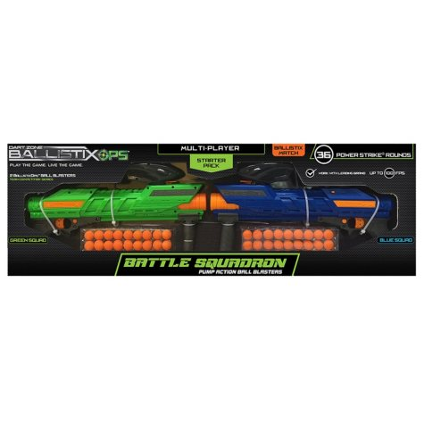 Dart Zone BallistixOps Battle Squadron Ball Blaster, 2-Player Starter Pack