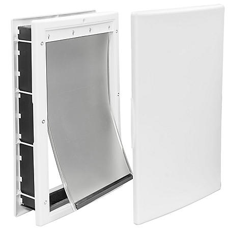 "Premier Pet Medium Plastic Pet Door, White (8 1/8"" x 12 1/4"" opening)"