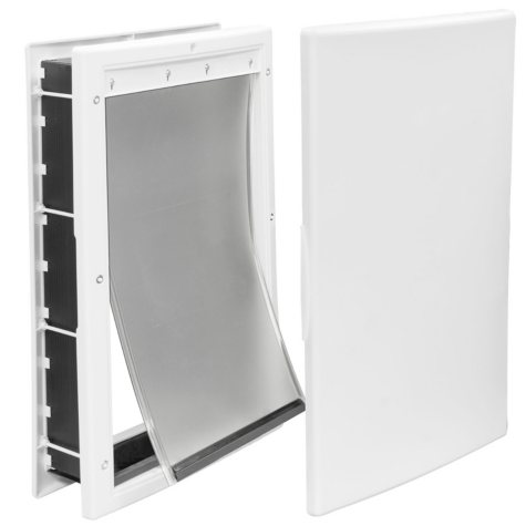 "Premier Pet Medium Plastic Pet Door, White (8 1/8"" x 12 1/4"" opening)"