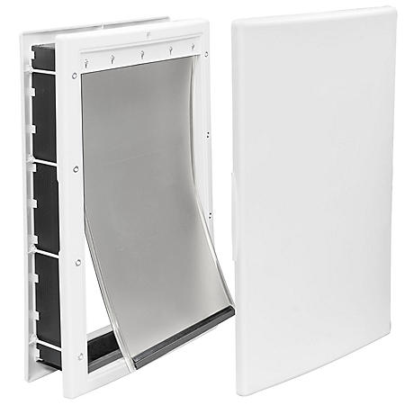 "Premier Pet Large Plastic Pet Door, White (10 1/8"" x 16 1/4"" opening)"