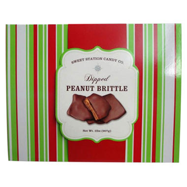 Sweet Station Candy Co. Holiday Dipped Peanut Brittle - 2 lbs.