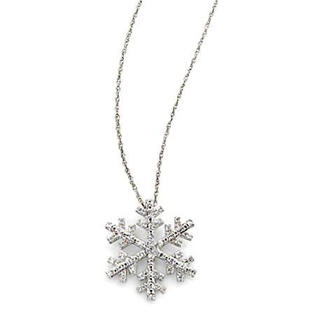 0.20 CT. T.W. Diamond Snowflake Pendant in Sterling Silver (H-I, I1)