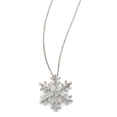 0 20 Ct T W Diamond Snowflake Pendant In Sterling Silver H I I1