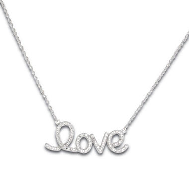 025 ct tw diamond love pendant in 14k white gold h i i1 tw diamond love pendant in 14k white gold h i i1 mozeypictures Images