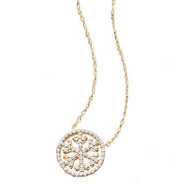 015 ct tw diamond snowflake pendant in 14k yellow gold igi tw diamond snowflake pendant in 14k yellow gold igi appraisal value aloadofball Images