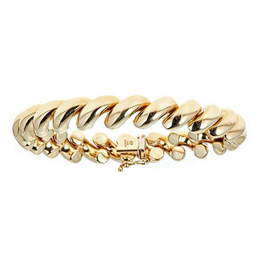 Large San Marco Bracelet in 14K Yellow Gold