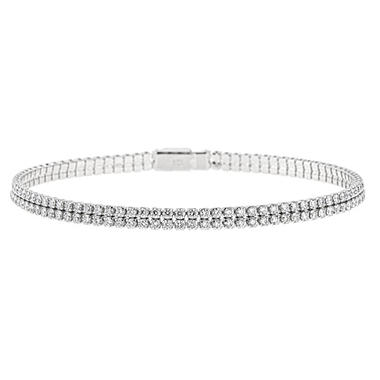 2.95 CT. T.W. 2-Row Tennis Bracelet in 14K White Gold (H-I, I1)