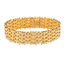 Textured Woven Bracelet in 18K Yellow Gold