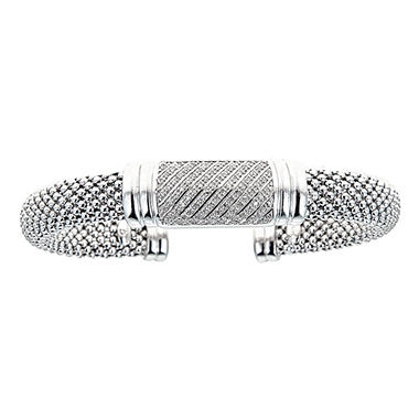 .34 CT. T.W. Diamond Bangle in Sterling Silver (H-I, I1)