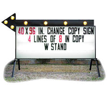 "Outdoor Signs America Portable Business Sign with Flashing Arrow, 40"" x 96""  **To Be Discontinued as of June 1, 2017**"