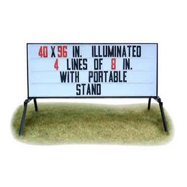 Outdoor Signs America Portable Lighted Business Sign with Stand, 40