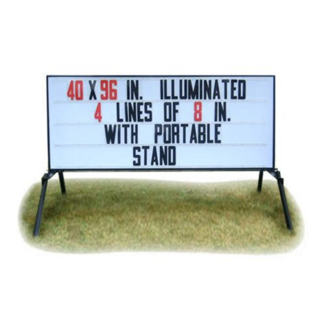 """Outdoor Signs America Portable Lighted Business Sign with Stand, 40"""" x 96"""" **To Be Discontinued as of June 1, 2017**"""