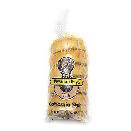 Hawaiian Bagel California Style Plain Bagels (6 ct., 24 oz.)