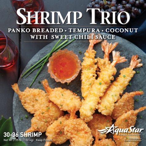 Aqua Star Shrimp Trio Appetizer (2.25 lb., 30-36 shrimp)
