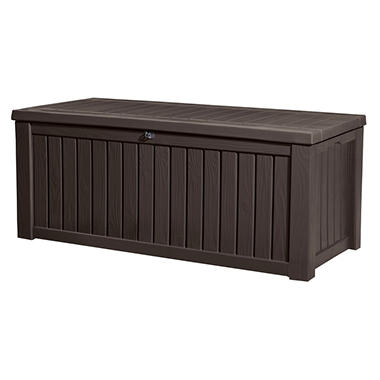 Keter Rockwood 150-Gallon Outdoor Plastic Storage Box  sc 1 st  Samu0027s Club & Keter Rockwood 150-Gallon Outdoor Plastic Storage Box - Samu0027s Club
