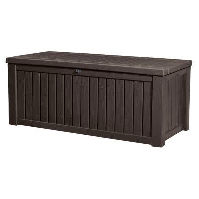 Keter Rockwood 150 Gallon Outdoor Plastic Storage Box Sams Club