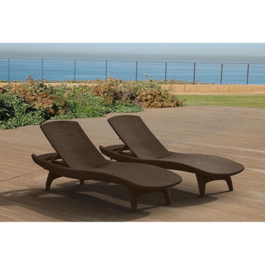 keter 2pack allweather rattan chaise lounger various colors