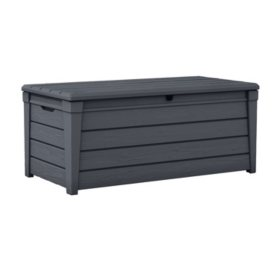 Keter Brightwood 120-Gallon Resin Outdoor Storage Deck Box, Various Colors