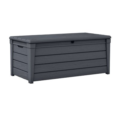 Keter Brightwood 120 Gallon Resin Outdoor Storage Deck Box, Various Colors