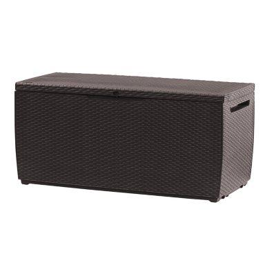 Keter Capri 80-Gallon Rattan Outdoor Storage Deck Box Espresso Brown  sc 1 st  Samu0027s Club & Plastic Storage Sheds u0026 Resin Storage Sheds - Samu0027s Club