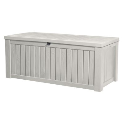 Keter Rockwood 150 Gallon Outdoor Plastic Storage Box