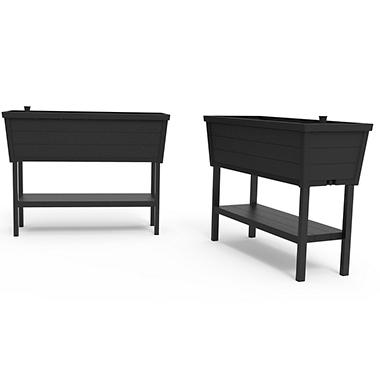Keter Easy Grow Elevated Garden, Wood Look Raised Garden Planter