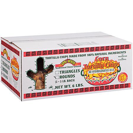 Lost Amigos™ Round Corn Tortilla Chips - 3 lb. - 2 ct.