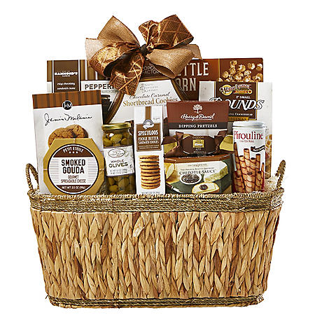 DesignPac Festive Holiday Winter Wishes Gourmet Basket