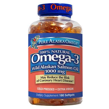Wild alaskan salmon oil softgels 180 count sam 39 s club for Sam s club fish oil