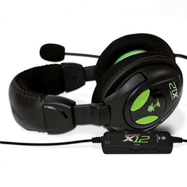 Turtle Beach Ear Force X12: Gaming Headset Plus Amplified Stereo Sound - Xbox 360