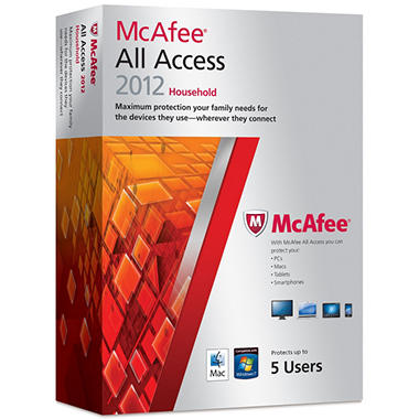 McAfee All Access 2012 Household - PC/Mac/Mobile