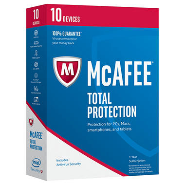 Mcafee 2017 Total Protection 10 Device Sams Club