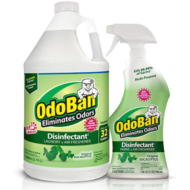 OdoBan Eucalyptus Odor Eliminator & Disinfectant - 1 Gallon Concentrate w/32.5 fl. oz. Sprayer