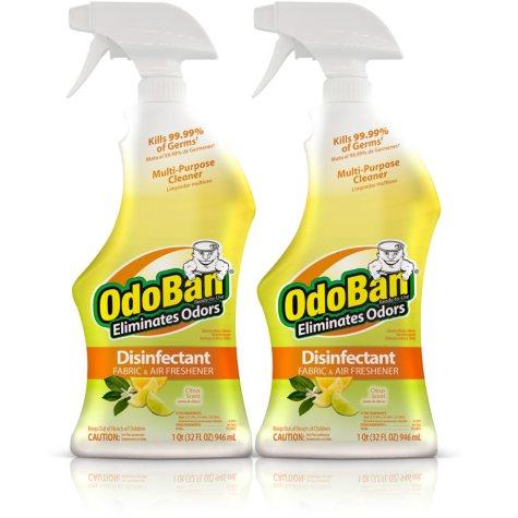 OdoBan Odor Eliminator & Disinfectant Ready-to-Use, Citrus Scent (32 oz., 2 pk.)
