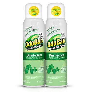odoban disinfectant fabric air freshener spray eucalyptus scent