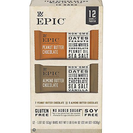 EPIC Performance Bars Variety Pack (12 pk.)