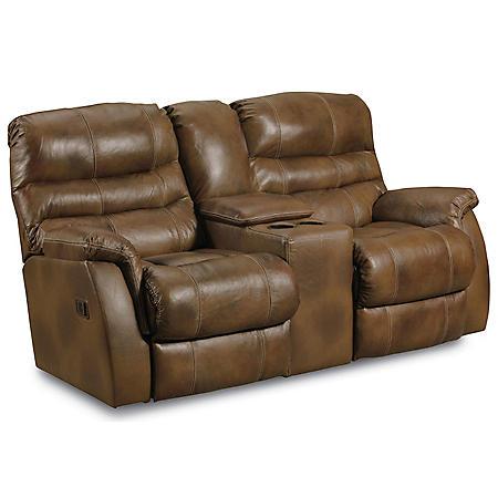 Lane Furniture Branyon Top-Grain Leather Dual Reclining Power Loveseat