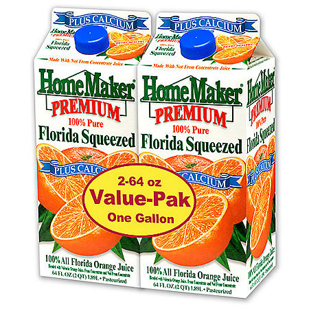HomeMaker® Premium Orange Juice +Calcium - 2/64 oz.