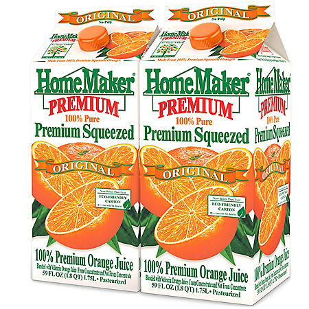 Homemaker Orange Juice (59 fl. oz., 2 pk.)