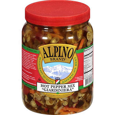 Alpino Brand Hot Pepper Mix - 64oz