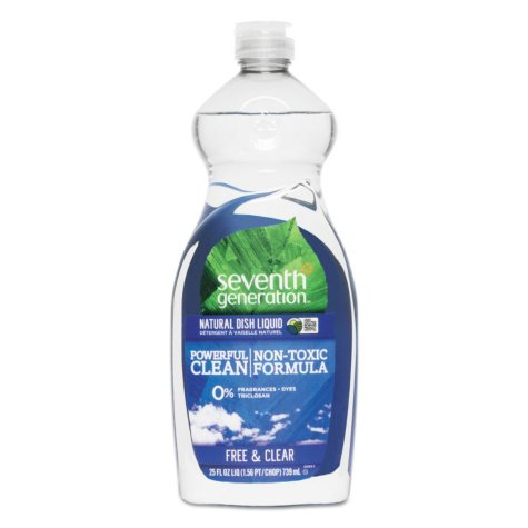 Seventh Generation Natural Dishwashing Liquid, Free & Clear (25oz.)