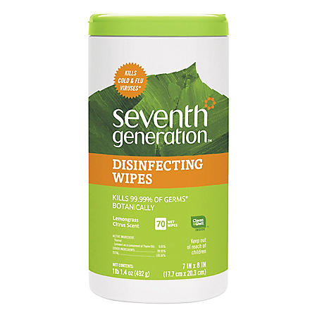 Seventh Generation Botanical Disinfecting Wipes (8 x 7, 70ct.)