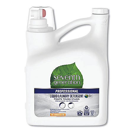Seventh Generation® Professional Liquid Laundry Detergent, Free and Clear Scent, 150 oz. Bottle