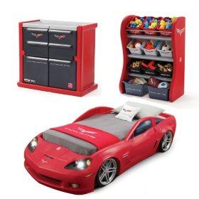 Step2 Corvette Toddler Bed, Dresser & Organizer Bundle