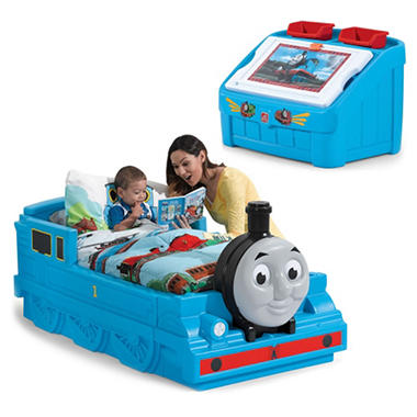 Thomas the Tank Engine Toddler Bed & Toy Box Bundle