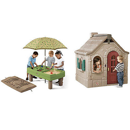 Storybook Cottage & Sand and Water Activity Table