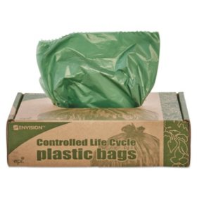 Stout Eco Degradable Plastic Trash Garbage Bag 33gal 1 1mil 33