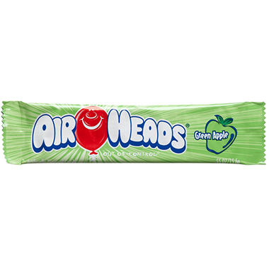 Airheads Green Apple Flavored Candy .55 oz. Bar (36 ct.)