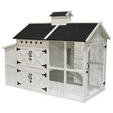"Farmhouse Wooden Chicken Coop 72"" x 38"" x 56"""